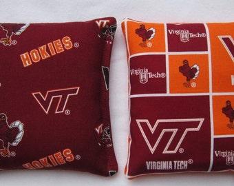 Virginia Tech Hokie Camo Cornhole - Set of 8 bags Corn hole or Baggo Bean Bag Toss