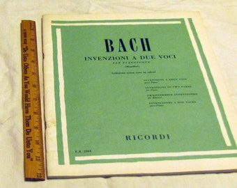 Bach Two Part Inventions, unused vintage book