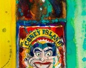 Coney Island Lager by Coney Island Brewery Art Print  Beer Watercolor Art Print or Giclee Print  Man Cave