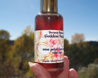 Rose Petal FACE TONIC bliss mist organic skin toner