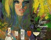 Vintage 1968 original magazine ads advertisements - Jose Cuervo Tequila Margarita - set of 2