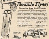 Vintage 1952 magazine ad advertisement - Flexible Flyer ----Expires May 21, 2016 and will not be renewed----