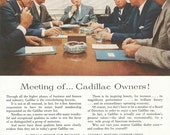 Vintage 1950s 1955 original magazine ad advertisement - Cadillac ----Expires May 23, 2016 and will not be renewed----