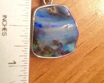 SALE Natural Australian Boulder Opal Pendant