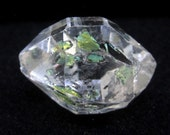 18 cts Enhydro Petroleum Included 'Herkimer Diamond' Quartz Crystal with MOVING bubble