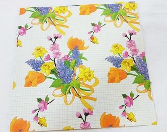 Vintage sunshine floral sheet gift wrap paper