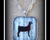 Show Goat Glass Dome Image Pendant With Chain