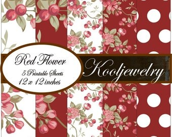 Beautiful flowers Paper Pack - No.170