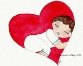 Born In My Heart Adoption Gift Adoption Art