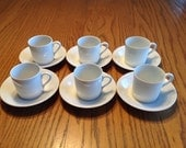 Demitasse Cups and Saucers -- Set of Six