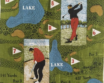 Vintage Golf Towel Sports Wall Hanging Gift for Man Dude