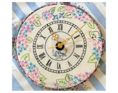 Bluebird Embroidered Clock Pattern - instant pdf download