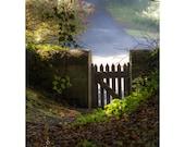 The Garden Gate 11x14 Fine Art Photography Magical Secret Scottish garden setting Cottage Style romantic home decor dreamy Scotland Fairy