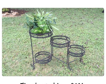 Plant Stand - Tiered Plant Stand - Metal Plant Stand - Circular Plant Stand - Plant Holder - Jungalow Style - CHIC
