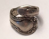 French Scroll Spoon Ring Alvin Sterling Size 8