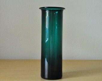 green holmegaard denmark vase by per lutken