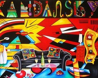Print, Art print, Kandinsky print, Kandinsky, Interior design print, Still Life print, Wall art, Whimsical art