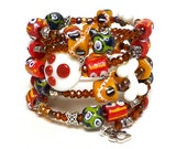 SPOT THE CRITTER coil Beaded Bracelet by Beading Divas Fundraiser