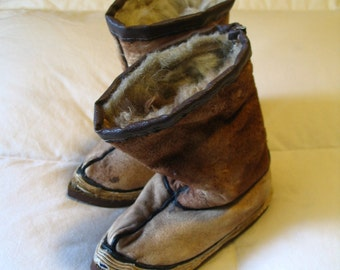 Adorable Mongolian Children's Boots Collectible Antique