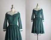 forestry shirtdress / 60s dress