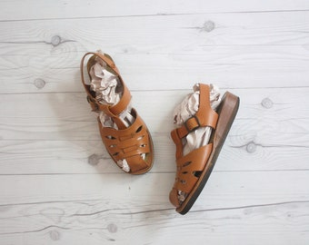 leather sandals size 6 1/2