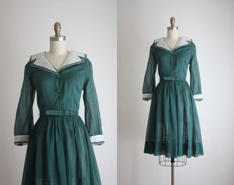forestry shirtdress / 60s dress