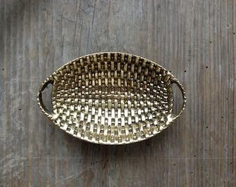 LAST PIECE Brass Basket
