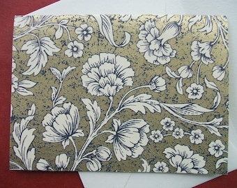 Greeting Cards - Luxe white Floral - (Set of 10)