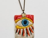 Seeing Eye Embroidered Necklace