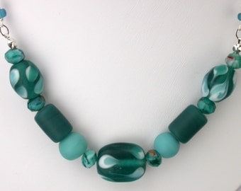 Mixed Teal Necklace Set