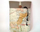 "Map Macbook Air 13 Case, Laptop Sleeve, Mac Book Air 13. 3 "" Bag Tablet Cover Vintage Pacific World Travel Atlas US America Australia Asia"