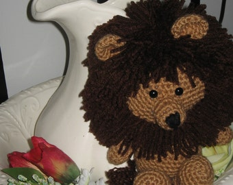 Handmade Crocheted Amigurumi Tan Lion