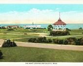 Vintage Martha's Vineyard Postcard - The Ferry leaving Oak Bluffs (Unused)