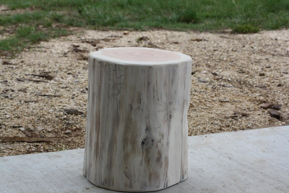 tree stump side table timber end table tree log table base