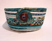 Teal we Meet Again Coiled Fabric Bowl