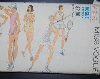 Vogue 7817 Vintage Sewing Pattern Tennis Sportswear