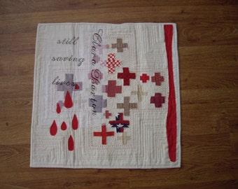 Red Cross Clara Barton Art Quilt