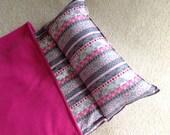 Nap Mat. Great for Daycare, Preschool or Kindergarten.Personalized. Modern stripes. Girls.