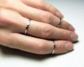 Anneaux en acier inoxydable anneaux minces d'articulation ensemble de 3 bague minimaliste Midi Simple minces anneaux anneaux d'empilage Pinky ring femmes cadeau pour elle