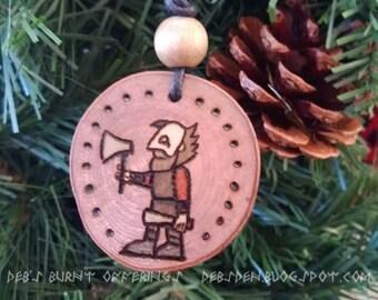 Vikings Floki Wood Pendant Necklace