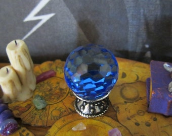 Scrying Crystal dollhouse miniature, fortune teller, witch, wizard, fairy, spooky, gypsy, Halloween in 1/12 scale