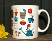 NOW HALF PRICE In The Garden mug with gift box. tea coffee hot chocolate mug