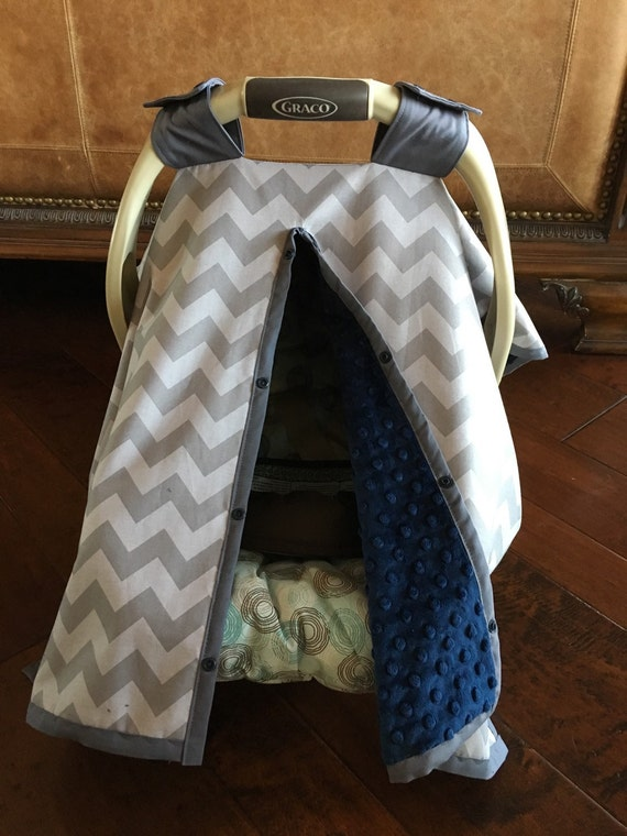modern super cute baby car seat covers chevron in gray with. Black Bedroom Furniture Sets. Home Design Ideas