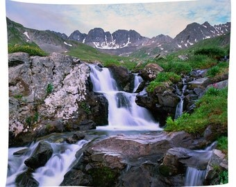 Waterfall In The American Basin Tapestry