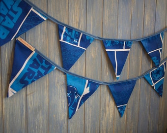 Star Wars Bunting. Kids bunting. Star Wars Decoration. These are great 3m strands made from Star Wars fabric!