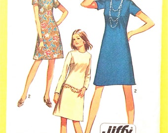 Vintage Sewing Pattern Simplicity 9072 A Line DRESS pattern Bust 32.5 inches