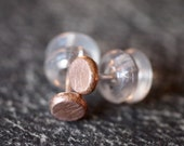 Super tiny petite and cute 14 kt pink gold stud post earrings