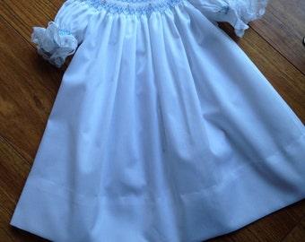 Infant, toddler, babby girl hand smocked bishop dress - sz 6m