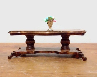 Vintage Miniature Coffee Table - Concord Miniatures - 1:1 Scale Dollhouse Furniture