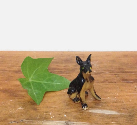 Vintage Miniature Doberman - Plastic Dog Figurine - Miniature Animal